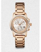 Breil Orchestra Rose Goldtone Stainless Steel & Crystal Chronograph Bracelet Watch - Lyst