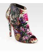 Jimmy Choo Bolt Floralprint Python Ankle Boots - Lyst