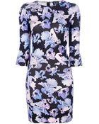 McQ by Alexander McQueen Floral Print Dress - Lyst