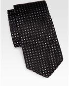 Ferragamo Gancini Print Silk Tie - Lyst