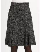 Oscar de la Renta Speckled Tweed Skirt - Lyst