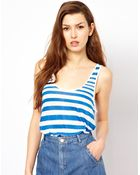 French Connection Caprina Stripe Vest - Lyst