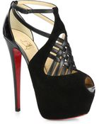 Christian Louboutin Carlota Patent Platform Sandals - Lyst