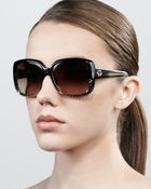 Gucci Oversized Square Diamondpattern Sunglasses  - Lyst