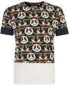 Christopher Shannon Navy Peace Heart Print T Shirt - Lyst