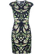 McQ by Alexander McQueen Interlock Butterfly Camouflage Dress - Lyst