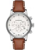 Burberry Womens Brown Leather Strap Watch - Lyst