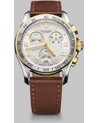 Victorinox Chronograph Stainless Steel Watch - Lyst