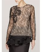 Jason Wu Embroidered Florallace Top - Lyst