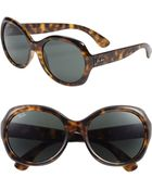 Ray-Ban Round Glamour 56mm Polarized Sunglasses - Lyst
