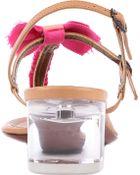 Lanvin Ball Braid Sug Leather Sandals - Lyst