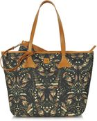 McQ by Alexander McQueen Butterflyprint Canvas Shopper Tote - Lyst