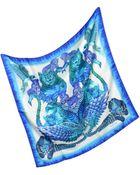 Roberto Cavalli Printed Silk Square Scarf - Lyst