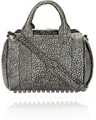 Alexander Wang Rockie in Pebbled Blackwhite Tip with Black Nickel - Lyst