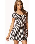 Forever 21 Polka Dot Baby Doll Dress - Lyst