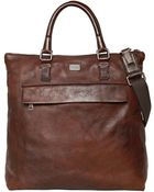 Dolce & Gabbana Washed Leather Shopping - Lyst