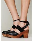 Free People Belmont Leather Clog - Lyst