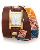 La Mer Collections Guatemala Wrap Watch - Lyst