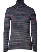 M Missoni Wool Blend Variegated Knit Turtleneck - Lyst