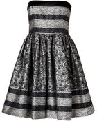 RED Valentino Jacquard Woven Strapless Dress - Lyst
