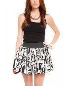 Akira Number Print Mini Skirt - Lyst