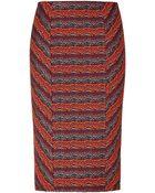 Matthew Williamson Pencil Skirt In Plum - Lyst