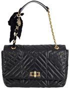 Lanvin Black Happy Large Quilted Leather Shoulder Bag - Lyst