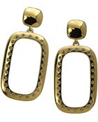 T Tahari Crystal-embellished Yellow Gold Drop Earrings - Lyst