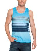 Guess Cotton Striped Tank Top - Lyst