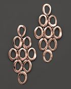 Ippolita Rosé Open Oval Cascade Earrings - Lyst