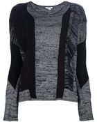 Helmut Lang Mixed Print Sweater - Lyst