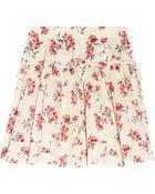 RED Valentino Floralprint Ruffled Cotton Skirt - Lyst