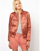 See By Chloé See By Choe Quilted Bomber Jacket in Silk Cotton - Lyst