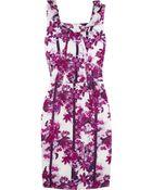 Erdem Zhanna Floral-print Silk Dress - Lyst