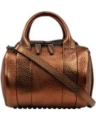 Alexander Wang Brown Rockie Metallic Pebble Leather Bag - Lyst