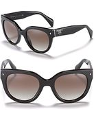 Prada Womens Timeless Heritage Rounded Wayfarer Sunglasses - Lyst
