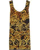 Versace Printed Silk Dress - Lyst