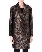 Lanvin Jacquard Leopardprint Coat - Lyst
