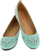 ModCloth Haute Of Doors Flat in Sky - Lyst