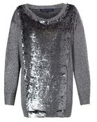 French Connection Crystalised Knitted Jumper - Lyst