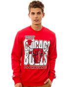 Mitchell & Ness The Chicago Bulls Crewneck Sweatshirt - Lyst