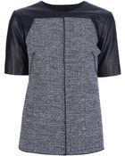 Proenza Schouler Leather Sleeve Top - Lyst