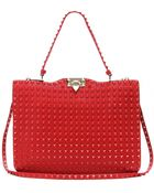 Valentino Rouge Rock-stud Leather Tote - Lyst
