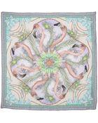 Matthew Williamson Flamingo Dna Silk Scarf - Lyst