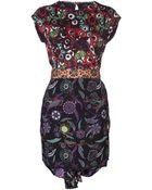 Cher Michel Klein Tie Waist Dress - Lyst