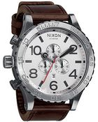 Nixon The 5130 Chrono Leather Watch - Lyst