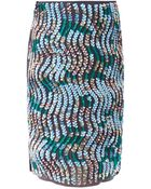 Peter Pilotto Wave Sequin Embellished Pencil Skirt - Lyst