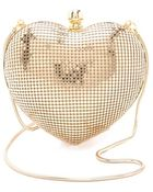 Whiting & Davis Charity Hearts Clutch - Lyst
