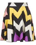 Topshop Printed Skirt By Love - Lyst