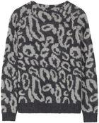 By Malene Birger Fensia Leopard-Print Knitted Sweater - Lyst